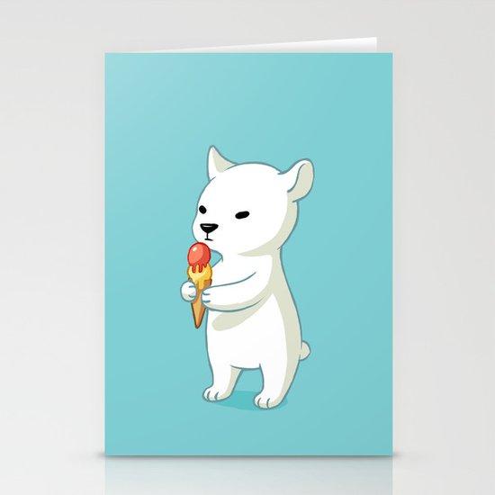 Polar Ice Cream Stationery Cards