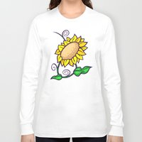 sunflower Long Sleeve T-shirts featuring Sunflower by Artistic Dyslexia