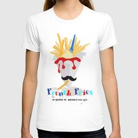 french fries T-shirts featuring French Fries by Elisandra Sevenstar