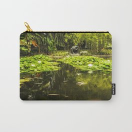 Turtle in a Lily Pond Carry-All Pouch