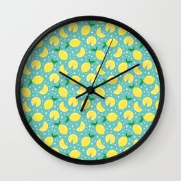 Juicy lemon pattern Wall Clock