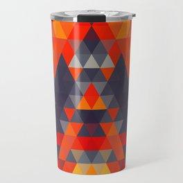 Abstract Triangle Mountain Travel Mug
