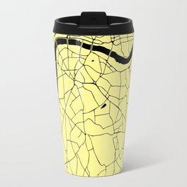 London Yellow on Black Street Map Travel Mug