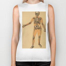 Vintage Human Skeleton Illustration (1887) Biker Tank