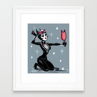 catwoman Framed Art Prints featuring Catwoman by ZoeStanleyArts