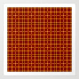 Tartan - Orange Brick Red Art Print