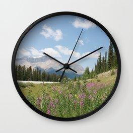 Jasper flowers Wall Clock