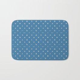 Cipher Wheel Pattern (Dipper Blue) Bath Mat