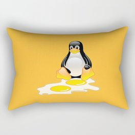 LINUX TUX PENGUIN TWINS SUNNY SIDE UP  Rectangular Pillow