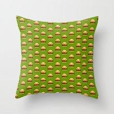 hamBOOger Jr Throw Pillow
