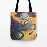 capricorn Tote Bags featuring Capricorn by Artist Andrea