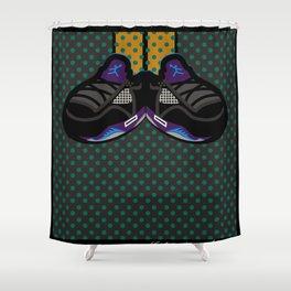 AIR JORDAN 5 BLACK Shower Curtain