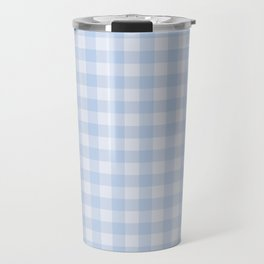 Gingham Pattern - Blue Travel Mug