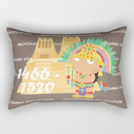 Moctezuma Xocoyotzin Rectangular Pillow