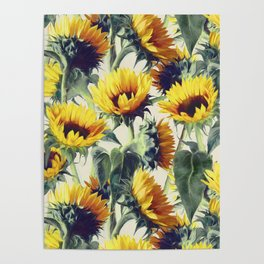 Sunflowers Forever Poster
