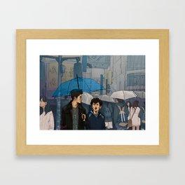 shibuya scramble Framed Art Print