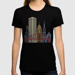 Pittsburgh V2 skyline poster T-shirt