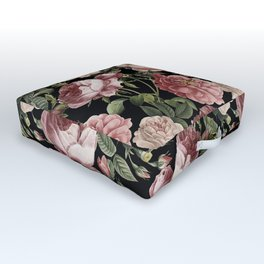 Lush Victorian Roses Outdoor Floor Cushion