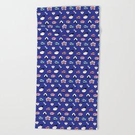 Tokyo doodles Beach Towel