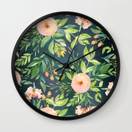 The Night Meadow Wall Clock