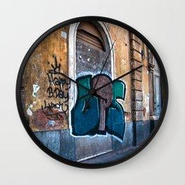 SICILIAN FACADE in CATANIA Wall Clock