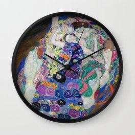The Maiden Gustav Klimt Wall Clock