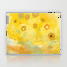 Abstract autumn with gold and warm light Laptop & iPad Skin