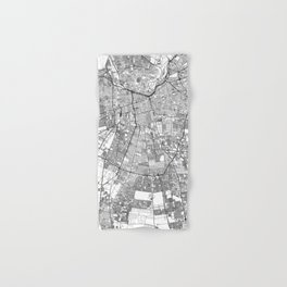 Santiago White Map Hand & Bath Towel