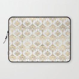 White & Gold Motif Laptop Sleeve