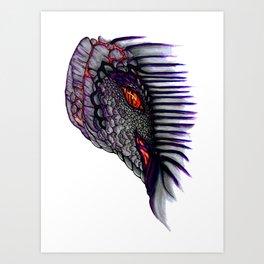 Dragon's Eye: Original Purple Art Print