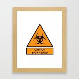 Caution Biohazard Sign Framed Art Print