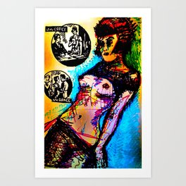 Romance: at the Office/at a Dance Art Print