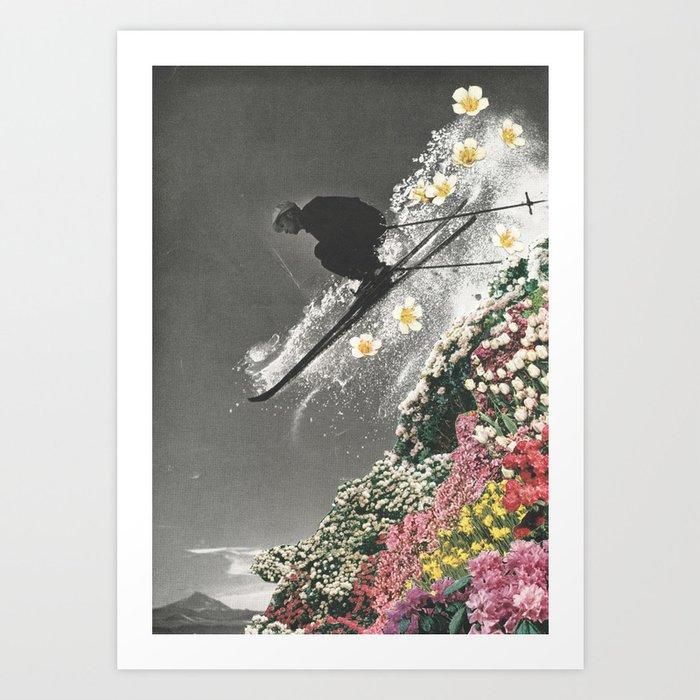 Spring Skiing Kunstdrucke