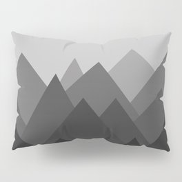 Black and White Abstract Mountains Pillow Sham