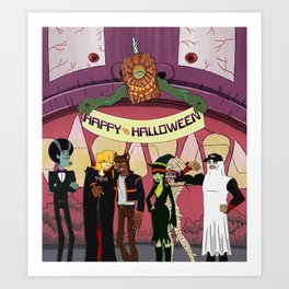Happy Halloween from the Burners Art Print