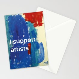 I Support Artists Coaster and Sticker Stationery Cards