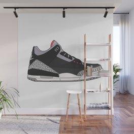 Jordan 3 - Black Cement Wall Mural