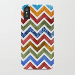 Chevrons in Color iPhone Case