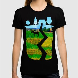 Nestled in the Valley:  Smoke on the Horizon T-shirt