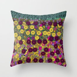 Floral Dancing In the air Throw Pillow