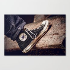 Well Loved Chucks Canvas Print
