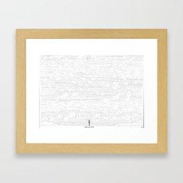 Mira un avión Framed Art Print