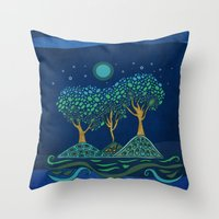once upon a  time Throw Pillows featuring Once upon a time... by Viviana Gonzalez