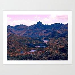 Landscape of Lakes Art Print