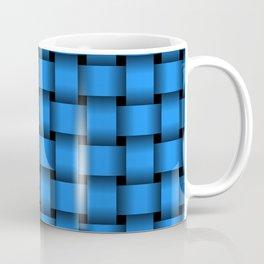 Small Dodger Blue Weave Coffee Mug