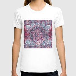 Vintage Boho Burgundy Mandala T-shirt