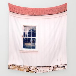 White Barn Window Wall Tapestry