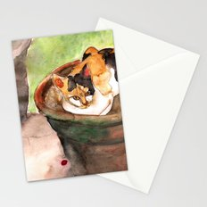Calico Cat at Adriana's Garden Stationery Cards