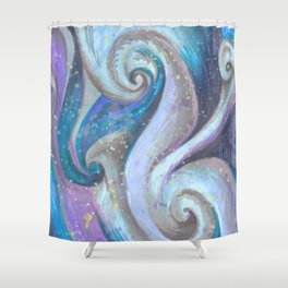 Swirl (blue and purple) Shower Curtain