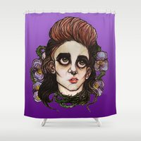 venus Shower Curtains featuring Venus by Julio César